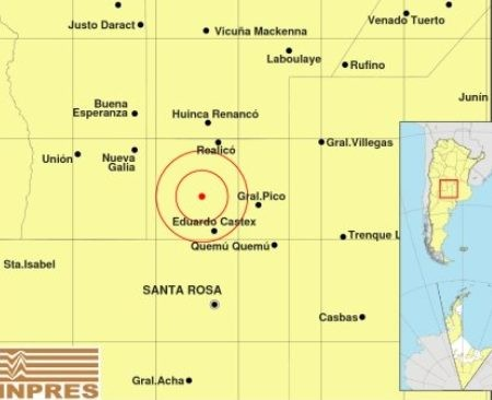 Reportaron un sismo de leve intensidad en Caleufú