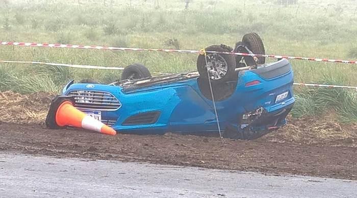 Una mujer murió al accidentarse sobre la Ruta 35, cerca de Villa Iris