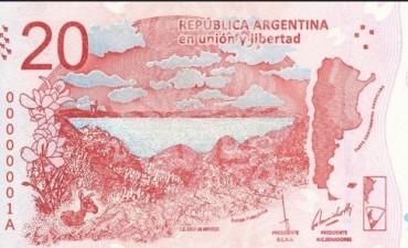 Presentaron el nuevo billete de 20 pesos