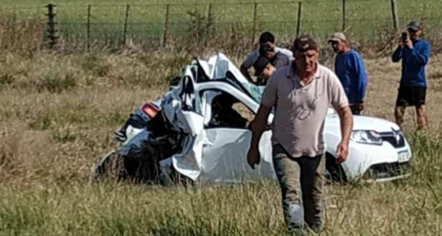 Una funcionaria hospitalizada al accidentarse en la ruta