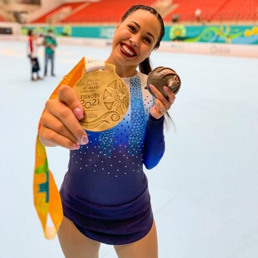 Una argentina, campeona del Mundial de Patinaje Artístico