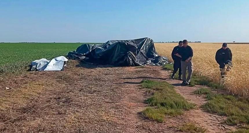 Alvear: cayó un avión que fumigaba