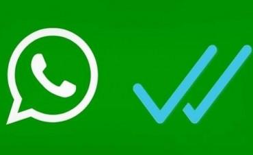 Aparecio el visto en WhatsApp
