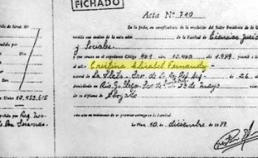 El título de CFK