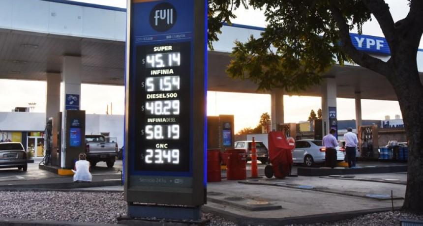 Aplicaron otro aumento a los combustibles