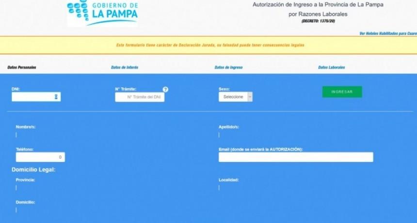 Desde localidades limítrofes se ingresa a La Pampa sin cuarentena y sin PCR