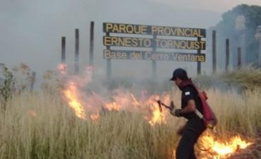 INCENDIO SIN CONTROL EN SIERRA DE LA VENTANA