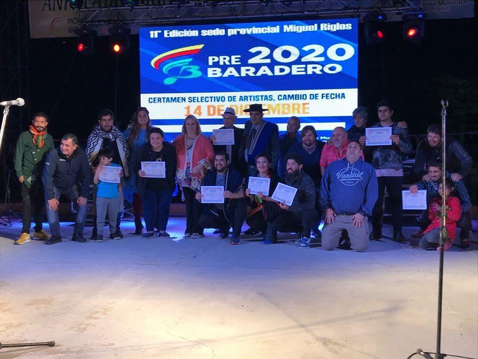 Están los seleccionados del certamen Pre Baradero 2020  Solista Vocal Masculino Tango: Darío Prost de Guatraché.
