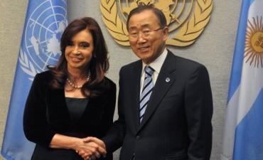 CFK SE REUNIO CON BAN KI-MOON