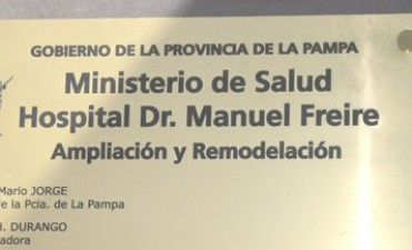 RE-INAUGURARON EL HOSPITAL DE GUATRACHE